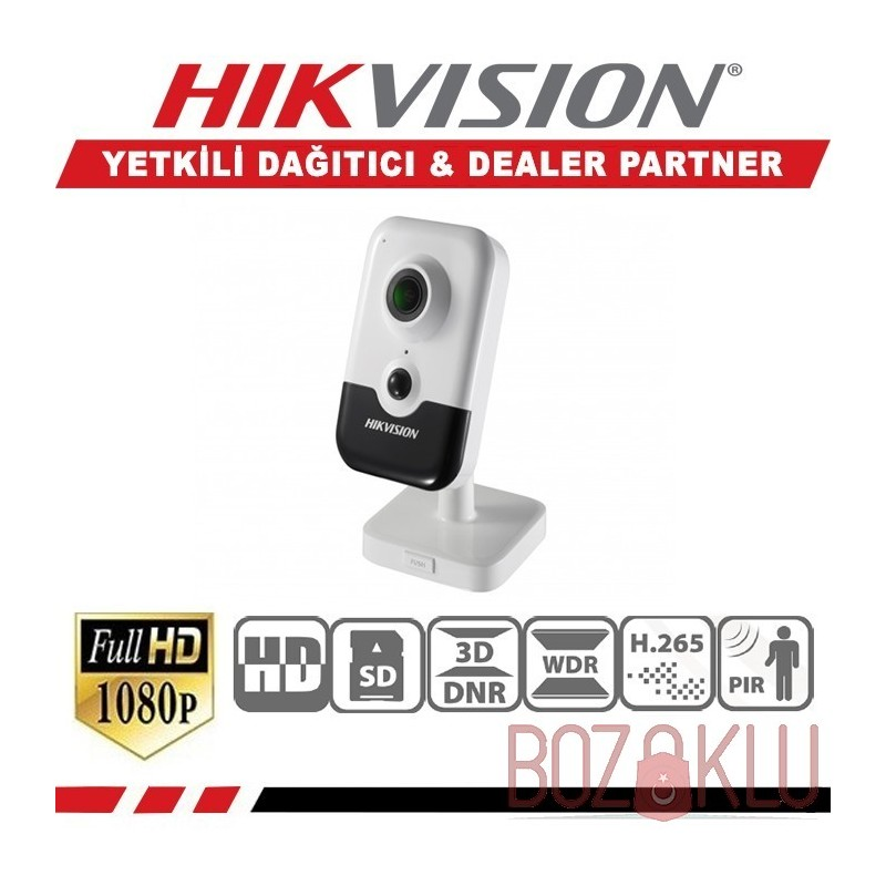 Haikon DS-2CD2423G0-IW, 2MP IR Cube Kamera (Wi-Fi + Sesli)