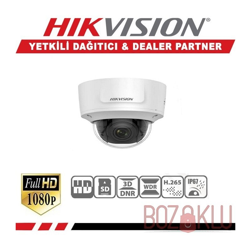 Haikon DS-2CD2745FWD-IZS, 4MP Motorize Varifokal IR Dome Kamera