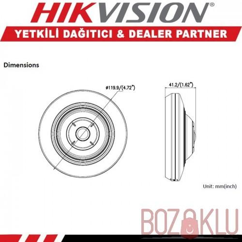 Haikon DS-2CD2955FWD-IS 5MP IR Fisheye Kamera (H.265+)