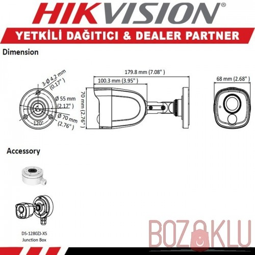 Haikon DS-2CE11D0T-PIRL, 2MP IR Bullet Kamera (Ultra Low-Light)