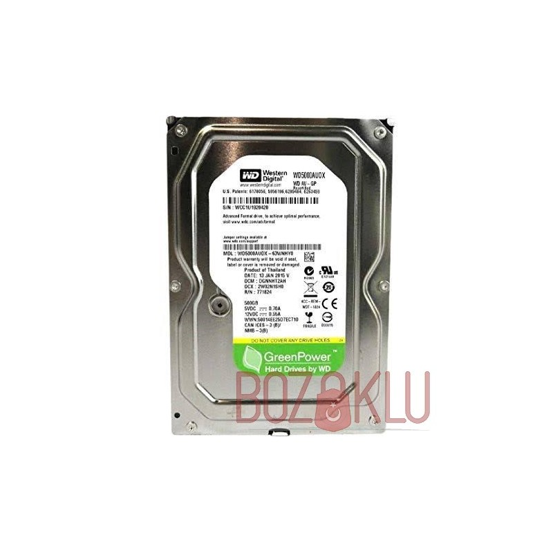 "WD 3.5"" 500GB Green Sata 3.0 64MB Hardisk"