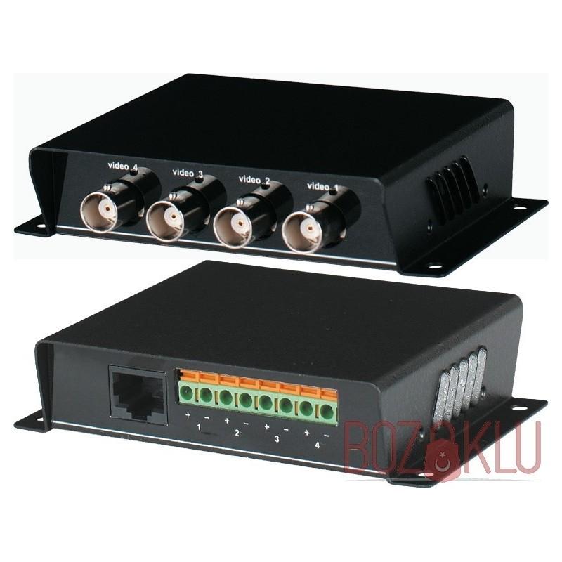 4 Kanal Pasif AHD-HDTVI-HDCVI Video Balunu