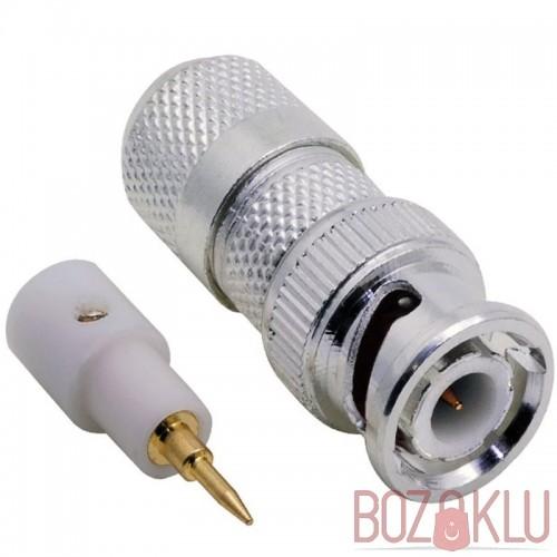 Vidalı Bnc Konnektör Nikel cctv RG59 Tip
